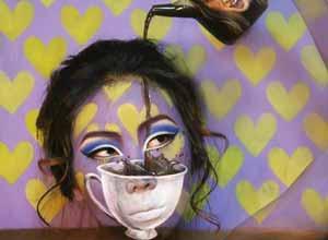 隐身衣发明了?彩妆艺术家迷幻妆容与背景融为一体