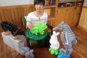 日本艺术家气球打造动物园 还原大自然的生命气息