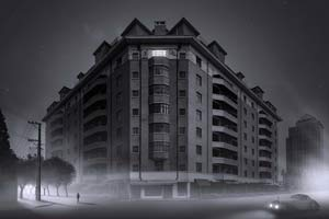 将上海变成哥谭市 印度艺术家暗黑风建筑摄影欣赏