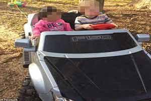 美国女子醉酒驾驶玩具卡车上街被捕 自称正在寻宝
