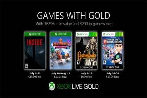 Xbox金会员7月会免《Inside》《恶魔城X月下夜想曲》