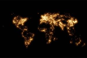 推特网友制5张世界地图 一展人类生活如何彼此相连