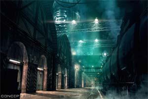 """《最终幻想7:重制版》发布""""米德加一号街""""概念图"""