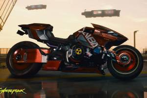 《赛博朋克2077》炫酷摩托车截图:灵感来自阿基拉!