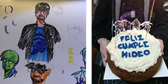 小岛秀夫生日转发粉丝贺图 主题蛋糕 贴心无比的祝福