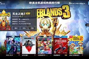 9.9-9.15全球游戏销量排行榜 《无主之地3》强势登顶