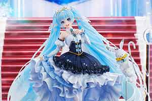 GSC雪初音1/7比例手办赏 扣人心弦的水蓝色冰雪公主
