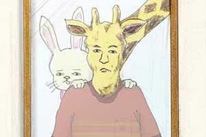 脑洞大开 日本艺术家作画展示长颈鹿艰难的拟人生活