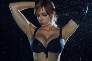 深夜福利:《合金裝備5》靜靜cos 翹臀豐乳完美黑絲!