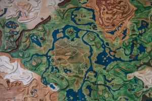 粉絲用紙筆/木板自制《塞爾達傳說》海拉魯地圖全貌