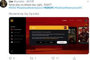 《荒野大镖客2》PC版玩家遇崩溃 A卡N卡均未幸免!