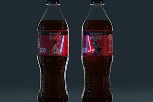 可口可樂推《星球大戰》點亮光劍包裝瓶:炫酷至極!