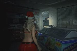 《生化危机2:重制版》圣诞MOD 女仆克莱尔红装傍身