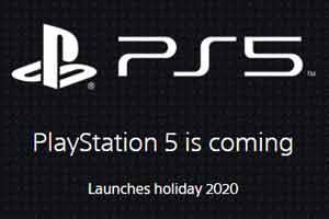 索尼已开通PS5官方网站 注册用户可获得最新消息