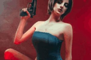 阿根廷美女COS《生化?;?》吉尔:性感短裙最为致命