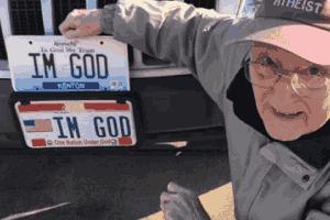 """美国男子自制""""我是上帝""""车牌!四年官司终胜诉!"""