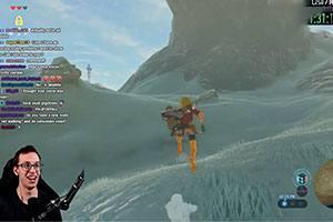 《塞尔达传说:荒野之息》另类挑战 游戏全程不走一步路