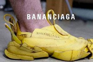 人没有点特长怎么行 囧图香蕉皮做的鞋子能踩的稳吗