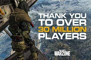 《使命召唤16战区》仅仅10天玩家人数突破3000万!