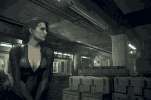《生化3RE》吉尔战斗服MOD:女神紧致好身材一览无余