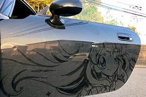 这是真的不用洗车了!岛国高玩技艺惊人用灰尘画痛车