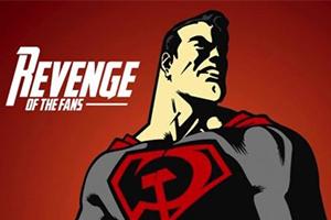 这版超人胸前画着锤子和镰刀?气氛忽然苏维埃起来了