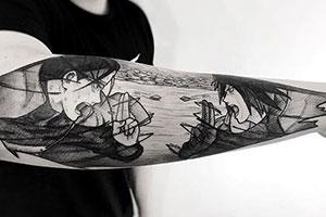 宅T脱了吧!巴西艺术家绘制精美二次元经典动漫刺青