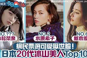 11区网友票选20代厌世颜女星TOP10:最美冰美人!