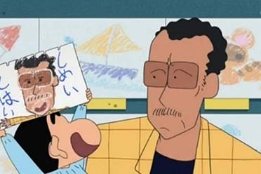 第一次看到《蜡笔小新》真人版园长:满满的极道感!