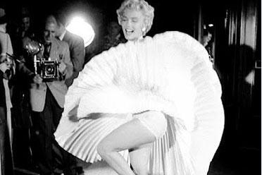 性感女神玛丽莲梦露吹裙子现场!书上没有的老照片