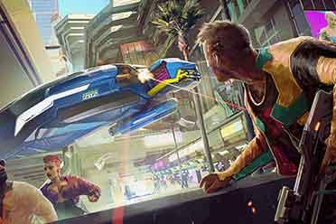 《赛博朋克2077》海量游戏原画发布 欢迎来到夜之城!