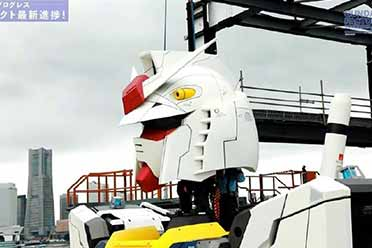 """日本横滨18米可移动高达完成""""上头仪式"""":10月开放"""