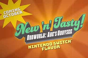经典动作冒险游戏《奇异世界:新鲜可口》十月登陆NS