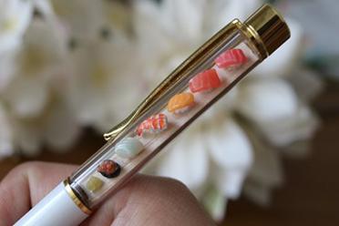 """激发食欲的圆珠笔!岛国工作室推出""""袖珍寿司笔"""""""