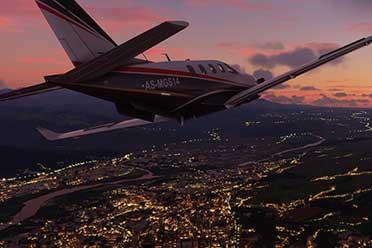 《数字战斗模拟世界》VS《微软飞行模拟》 画质对比