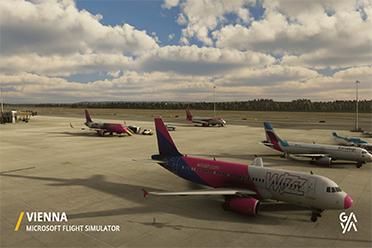 《微软飞行模拟》第三方机场作品:维也纳 迈阿密机场