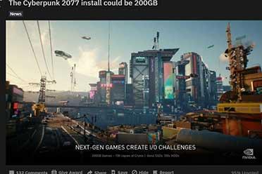 《赛博朋克2077》容量并没有200GB!CDPR出面澄清!
