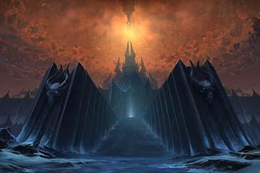 《魔兽世界:暗影国度》9.0登陆界面曝光:冰冠城堡!