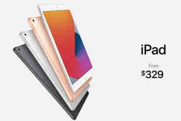 2020苹果秋季发布会:第8代iPad公布 定价329美元起!