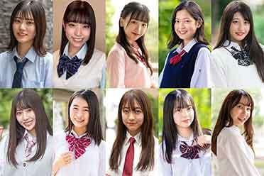 """日本""""女子高中生选美大赛2020 """"年度最可爱十强出炉"""