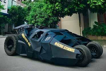 越南小哥打造出了自己的蝙蝠车:耗时三年!5亿越南盾