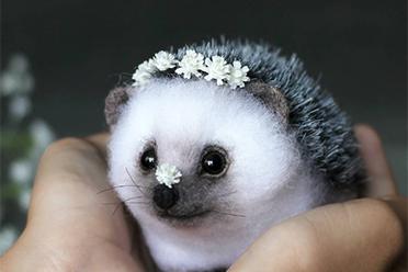 跟真的小动物一样!国外艺术家超治愈动物系羊毛毡