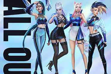 《英雄联盟》K/DA女团 ALL OUT系列皮肤及原画公布