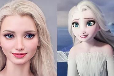 迪士尼找演员的模板来了!艺术家分享动画角色AI脸