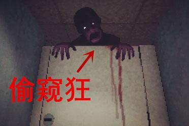 半夜去公共厕所 竟然被鬼偷窥 阴间恐怖游戏两连合集