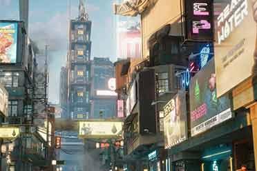 波兰主播分享《赛博朋克2077》新截图:广告牌里藏玄机!