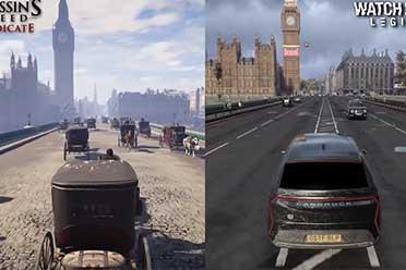 《看门狗:军团》与《AC:枭雄》 伦敦地标场景对比