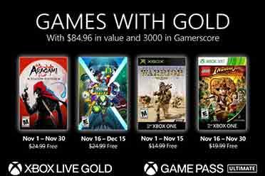 Xbox Live金会员11月会免游戏公开 还不如XGP带劲!