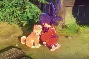 和风RPG《天穗之咲稻姬》撸狗演示 和狗狗甜蜜互动