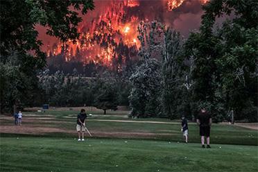 山火也不能影响我打高尔夫!50张让人WTF的照片(下)